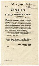 K.u.K. Circular, Verordnung, März 1825, Untersuchung von Vergiftungen