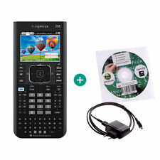 TI Nspire CX CAS calcolatrice grafica computer + apprendimento CD cavo di ricarica