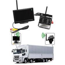 "12V 2.4GHZ Drahtlos Auto Bus Einparkhilfe Set 5"" TFT Monitor +LED Rückfahrkamera"