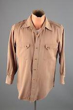 Vtg Men's 30s 40s Levis Strauss DeLuxe Wool Khaki Western Shirt sz M #3480