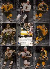 1999-00 BAP ITG Millennium Signatures Boston Bruins Silver Team Set (10)