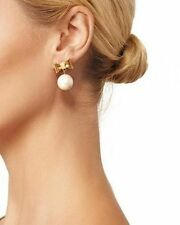 Kate Spade All Wrapped Up Pearl Earrings BOW DROP DANGLE BEAU BRIDAL FORMAL