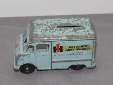1950's International Harvester Metro Mite Delivery Van Truck Coin Bank Metal Ih