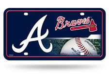 ATLANTA BRAVES CAR TRUCK TAG LICENSE PLATE MLB BASEBALL METAL SIGN AUTO