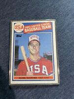 MARK McGWIRE 1985 Topps #401 USA Team ROOKIE