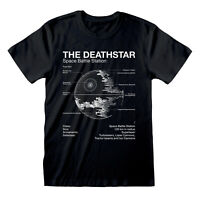 Star Wars Death Star T Shirt Blueprint Schematic Darth Vader Official S M LXLXXL