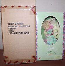 Mattel SIMPLY CHARMING BARBIE Doll MIB w Shipping Box