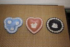 Wedgwood Jasperware Cameo Plates-3 Pieces-Angels Cherubs
