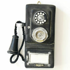 Vintage Rotary Telephone Statue Shabby Chic Old Corded Phone Figurine Wall Mount