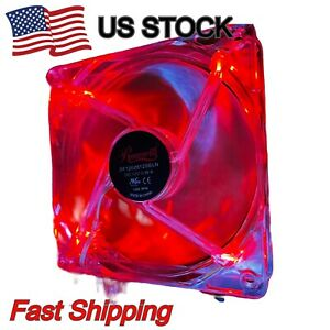 Rosewill LED 120mm Quiet PC Computer Case Cooling Fan 3pin 12V 0.16A 120*120*25