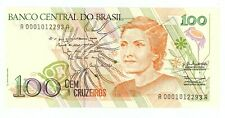 Brazil ... P-228 .. 100 Cruzeiros ... ND (1990) ... *UNC* Scarce serial 0001