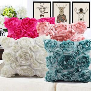 Fashion Rose Flower Cushion Cover Pillow Case Home Sofa Waist Throw Room Decor
