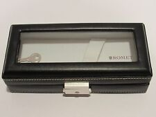 Romet Black Leather Pen Gift /Storage Box with locking key