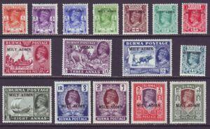 Burma 1945 SC 35-50 MH Set Mily Admin