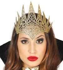 Evil conte de fée reine couronne Déguisement Halloween or paillette Méchant