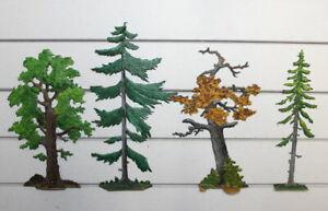 Zinnflachfiguren: Bäume - bemalt 2,  30mm