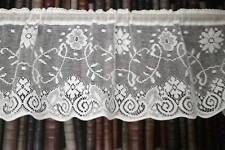 Vintage Princess Marie cotton lace window valance shabby chic cottage bris-bise