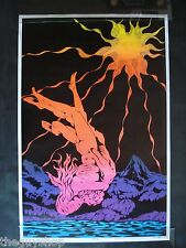 Vintage THE FALL blacklight poster Celestial Arts 1969 original 23 x 35 mint NOS