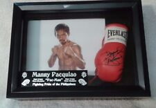 DISPLAY CASE MINI BOXING GLOVE WITH MANNY PACQUIAO's AUTOGRAPH LIMITED EDITION