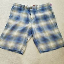 TOMMY BAHAMA MID RISE BERMUDA 80% LINEN/SILK BLEND MENS Size 32 NICE COND