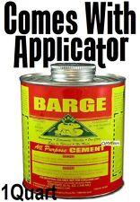 Barge Original All-Purpose Rubber Cement Glue Toluene Quabaug Tin Can 1 qt Quart