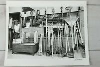 """9""""x13"""" Black White Picture Original Photo Vintage Swap Shop Buy Sell Trade Axes"""