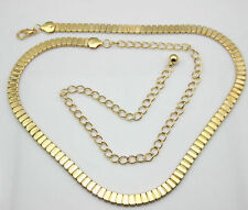 Gold Flat Ladies Waist Chain Charm Belt in Gold -Adjusatble So One Size Fits All