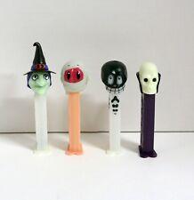 Pez Halloween Witch, Mummy Skeleton ,& Skull 4 pc set #2