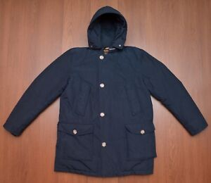 Woolrich Down Arctic Parka Puffer Jacket Dark Blue Mens sz L