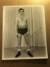 Extremely Rare Early Autographed Wrestling Photo Bob Cummings Champion 30s