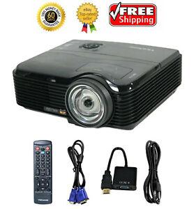 ViewSonic PJD7383 DLP Projector Short-Throw 3000 ANSI HDMI-Adapter bundle