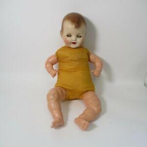 Antique Composition Doll 22-inch w/ Soft Body Baby Doll (damaged eyes)