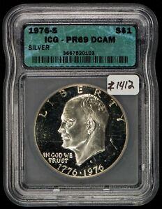 1976-S $1 Silver Eisenhower Dollar Proof - ICG PR 69 DCAM - SKU-Z1412