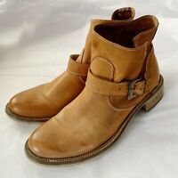 Ovye by Cristina Lucchi tan color  leather ankle booties, size 38EU