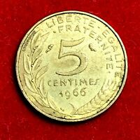 #1763 - RARE - 5 centimes 1966 Marianne SUP/SPL FACTURE
