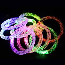 Fluorescence Stick Bubble LED Flash Bracelet Light-emitting Glow Toy Wristband