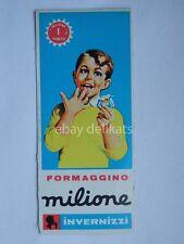 FORMAGGINO MILIONE INVERNIZZI 1 PUNTO piccolo vecchio cartoncino figurina vintag