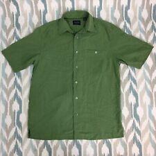 Indigo Palms Men's Hawaiian Button Down Shirt Size Medium