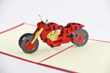 Motorbike Harley Motorcycle 3D Pop Up Card Handmade Kirigami Cards All Occasion
