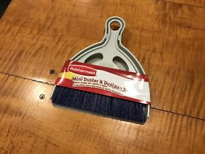 Rubbermaid Commercial Mini Duster and Dustpan Set Brush And Pan 6'' Cleaning