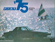 Auto Brochure - Fiat - 124 128 131 X1/9 - Sports Cars - 1975 (AB877)