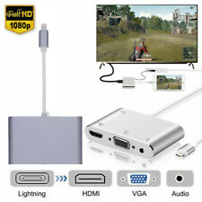 OEM Apple Lightning to VGA + Digital AV Adapter for iPhone iPad Mini/Air/Pro US