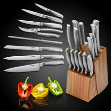 14er Messerset Messerblock Holzblock Kochmesser Küchenmesser Küchen Kochen