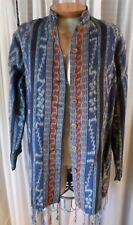 NWT NEW Lady L Blue Purple Medium Large Woman Cotton Coat Jacket 12 Lea Luna