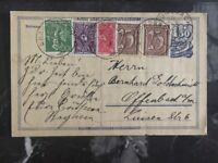 1922 braunsbach Germany Postcard Uprated Cover Inflation Rate To Offenbach