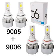 9005 9006 Combo LED Headlight Bulb High Low Beam Fit for Honda Accord 1990-2008