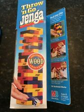 Vintage 1996 Throw 'N Go Jenga Wood Tower Building Game