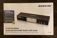 Factory Sealed IOGEAR GCS1642,2-Port DualView Dual-Link DVI KVMP Switch w/ Audio