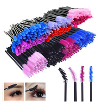 US Silicone Head Disposable Make up Brushes Mascara Wands Eyelash Lash Extention