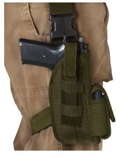 "Universal Olive Drab Green 5"" Tactical Leg Holster With Mag Pouch 20552"
